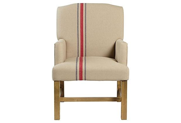 Cassidy Club Chair Linen Stripe Sillones Pinterest