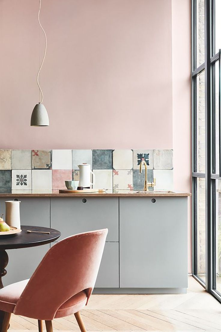 Warm up your home with pink wall colour