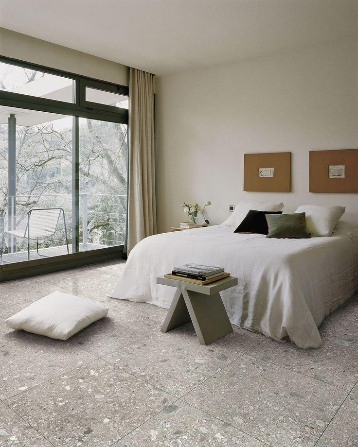 Mystone Ceppo di Gré ceramic tiles  #marazzi #tiles #floortiles #porcelain #ceramics #bedroom #bedroomideas #stonelook #stoneeffect
