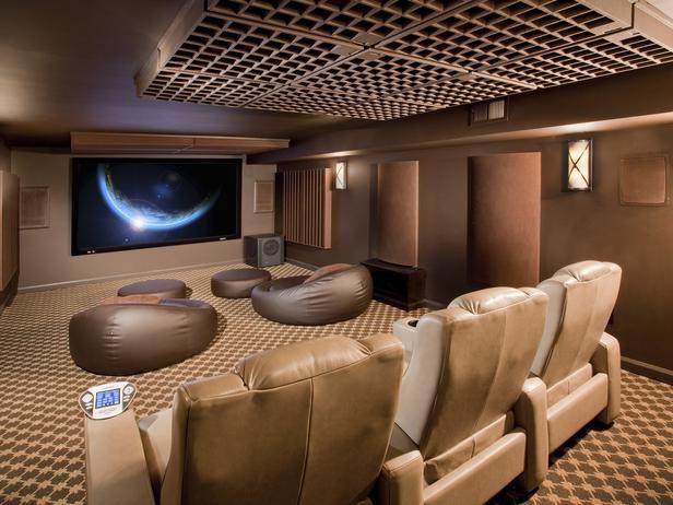Movie room ideas basement ideas pinterest - Diy home theater design idea ...