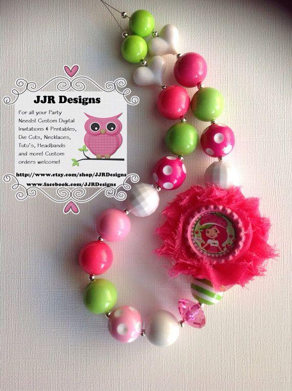 50 best strawberry shortcake birthday party images on for Strawberry shortcake necklace jewelry