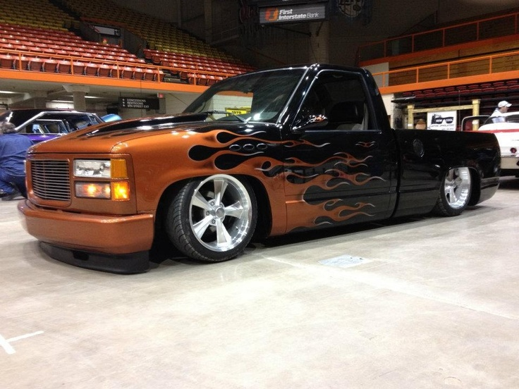 My 93 chevy C/K with 95 interior. Bagged with Rocket 18 ...