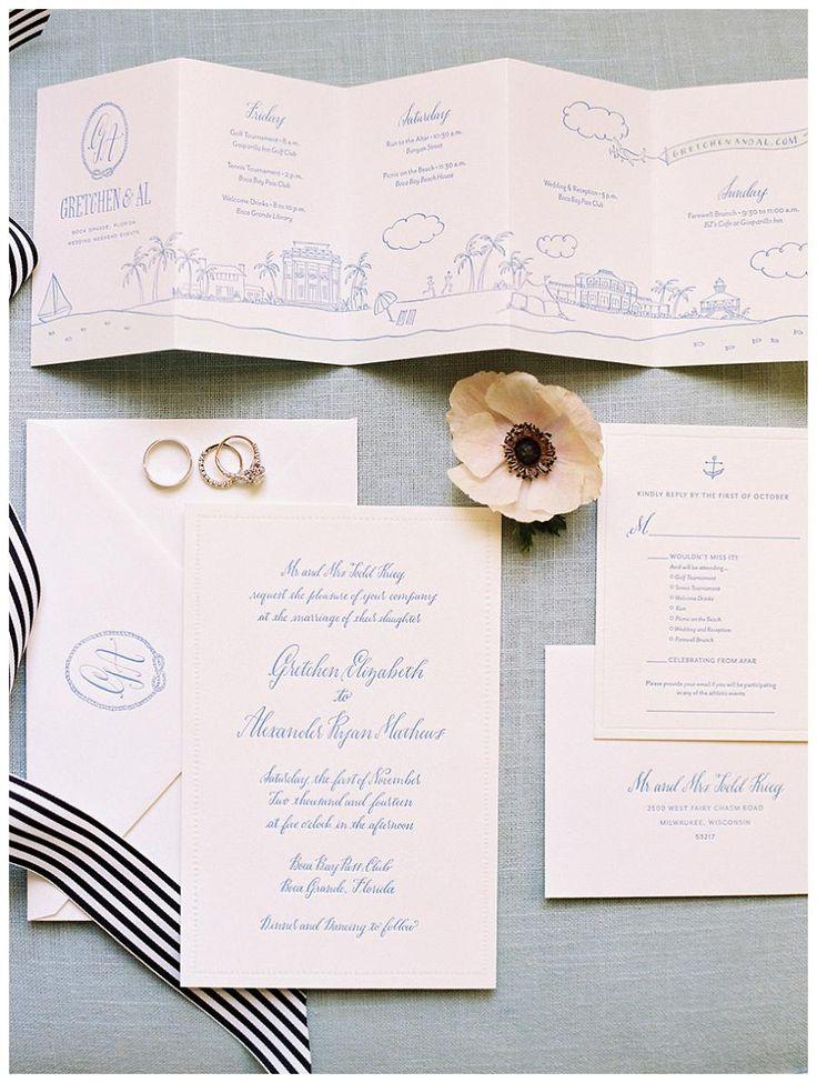 文字・イラストの線の部分だけブルーにしてもシンプルオシャレ◎結婚式は青でコーディネイトしたい♡青のメニュー表のまとめ一覧です♡