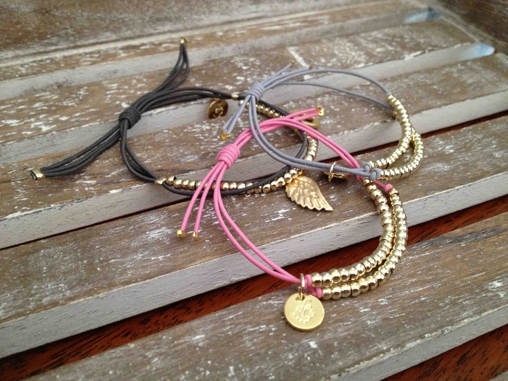 Gold plated bead bracelets from French brand Les Cleias @emeraldnest