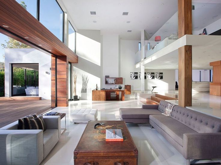 Beautiful natural light in this clean modern living room.