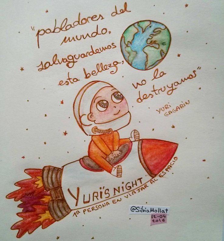 """""""Cuidemos nuestro bello lugar en el universo... #undibujoparacadadía #79 #space #yurisnight #earth #illustration #design #art #sketchbook #doodle…"""""""