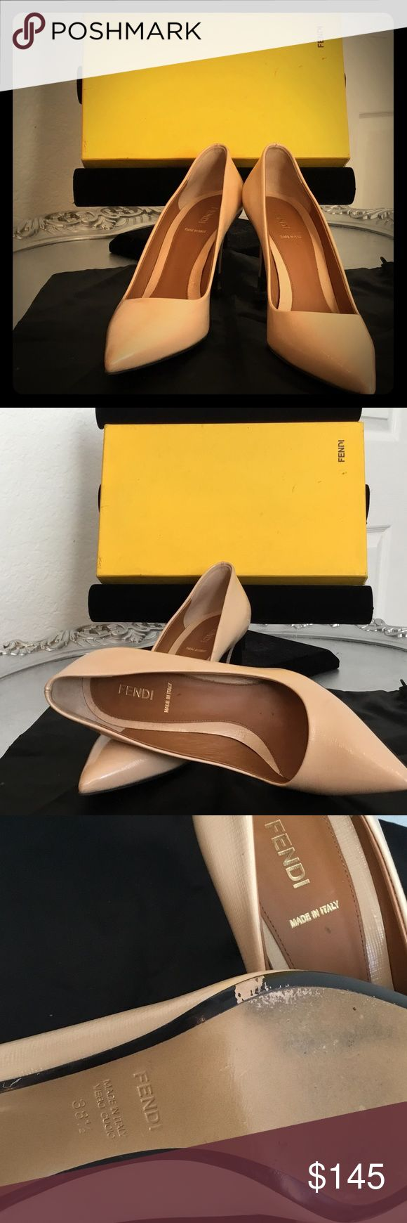 !! SALE!! FENDI high heel shoes FENDI 31/2 heel. Used but In very good conditions.made in Italy. Leather. Fendi Shoes Heels