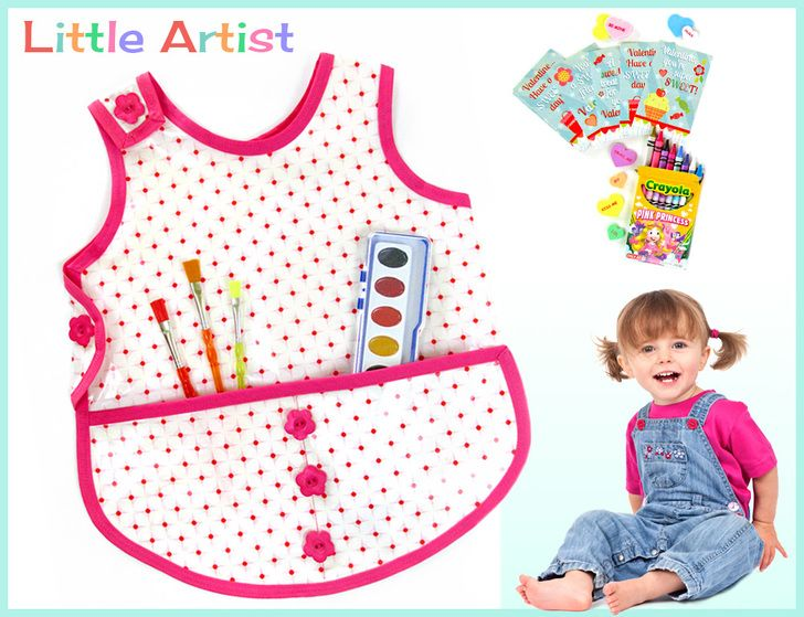 Toddler's Laminated Cotton Project Apron | Sew4Home