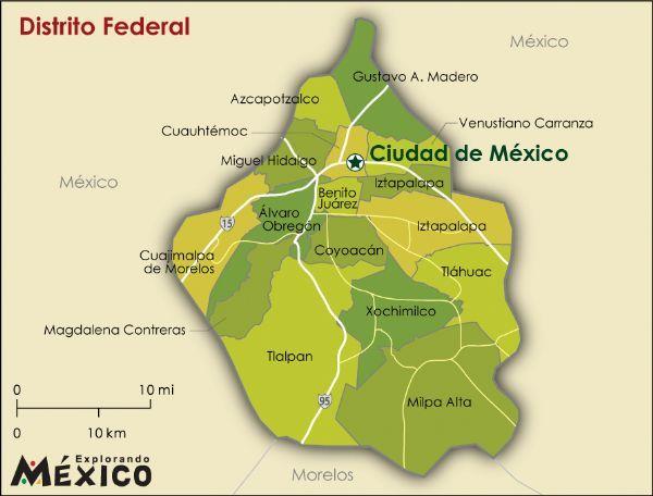 mexico DF map | Estructura de las Delegaciones en el Distrito Federal