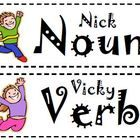 Have your students practice sorting words based on if they are nouns or verbs.  This would be a great whole group, small group, or literacy center ...