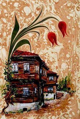 """""""ebru art"""" Turkish water marbling art"""