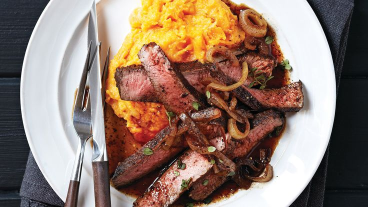 Balsamic-Glazed Sirloin with Rustic Sweet Potato Mash | The Triple-Threat Nutrient: A member of the morning glory family, sweet potatoes have high levels of beta-carotene, a nutrient-rich carotenoid. Beta-carotene, which is converted to vitamin A in the body, helps promote healthy eyes, skin and a strong immune system.