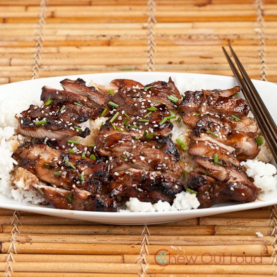 Teriyaki Chicken, done right.  The marinade is so amazing, we always make extra.  Tender, mouthwatering chicken for the grill.