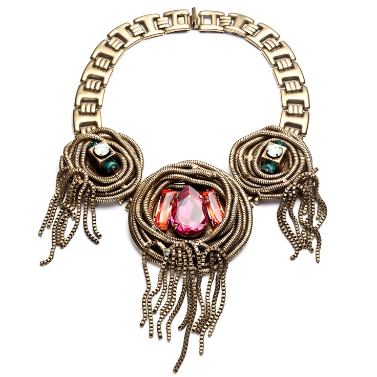 Dannijo...reminds me of a bird's nest (a gorgeous statement-making bird's nest but a bird's nest nonetheless): Necklaces 30540, Statement Necklaces, Dannijo Zsa, Jewelry Lust, Zsa Necklaces, Excess Accessories, Dannijo Spagetti, Fashion Addition, Jewelry Boxes