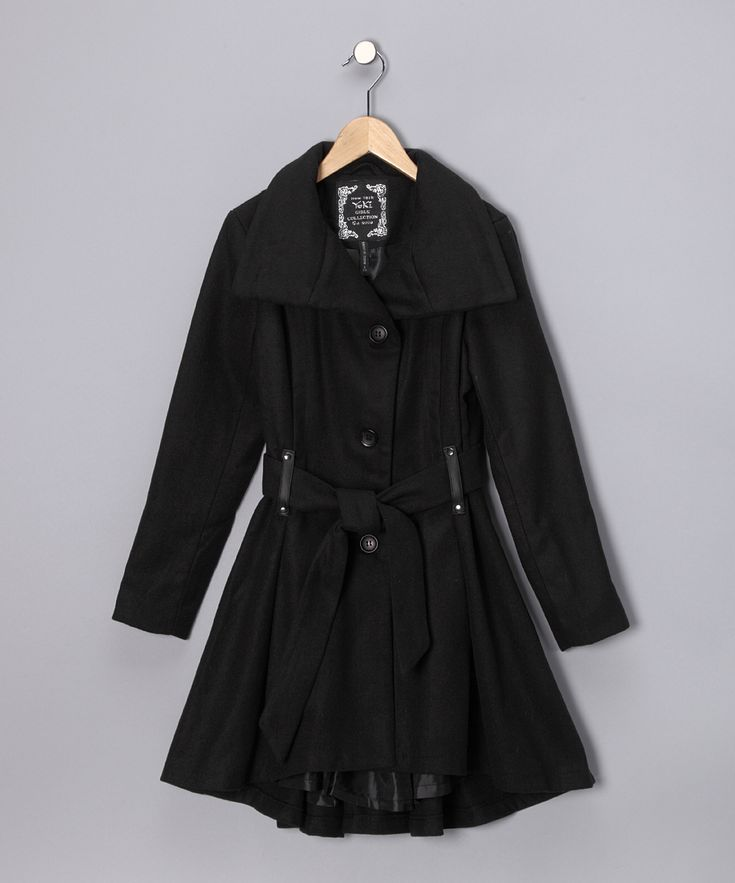 Black Trench Coat - Girls  Daily Deals For Moms, Babies -9314