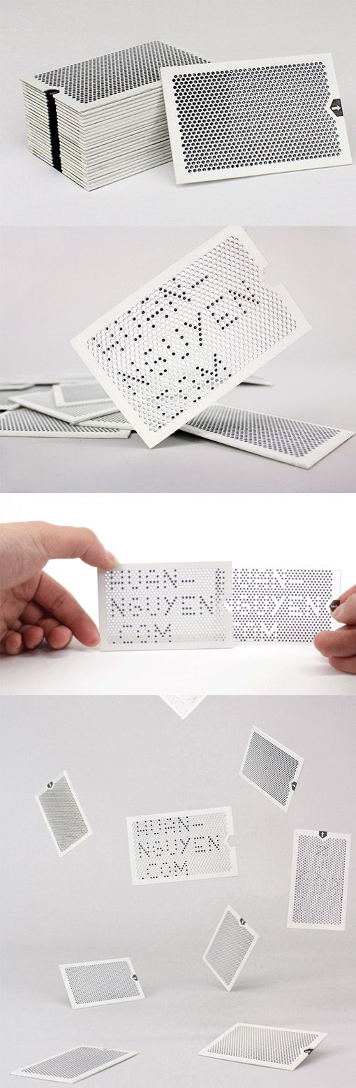 Clever Interactive Laser Cut Business Card Reveals A Hidden Message