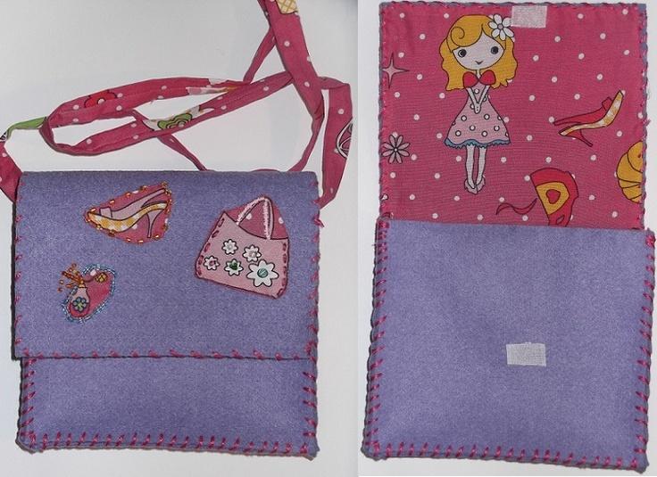 bolso de fieltro para niña