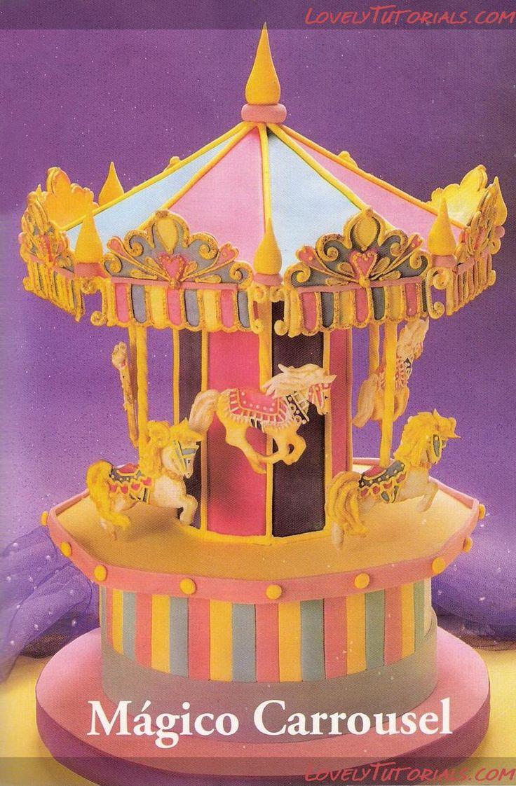 "МК торт ""Карусель"" -Carousel Cake tutorial - Мастер-классы по украшению тортов Cake Decorating Tutorials (How To's) Tortas Paso a Paso"
