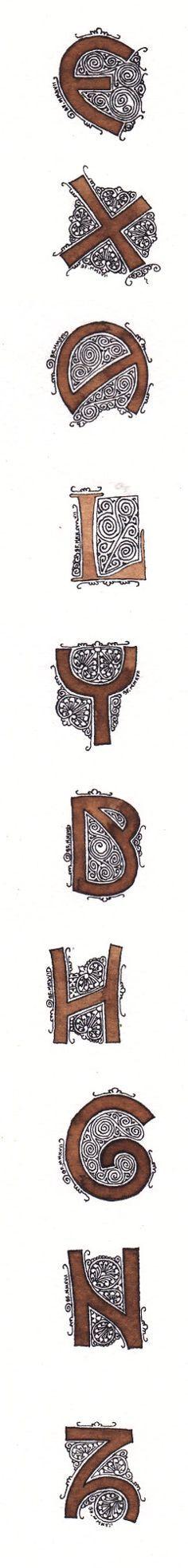 Anachropsy - Calligraphie latine par Benoit Furet