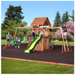 Leisure Time Products Saratoga Cedar Swing Set