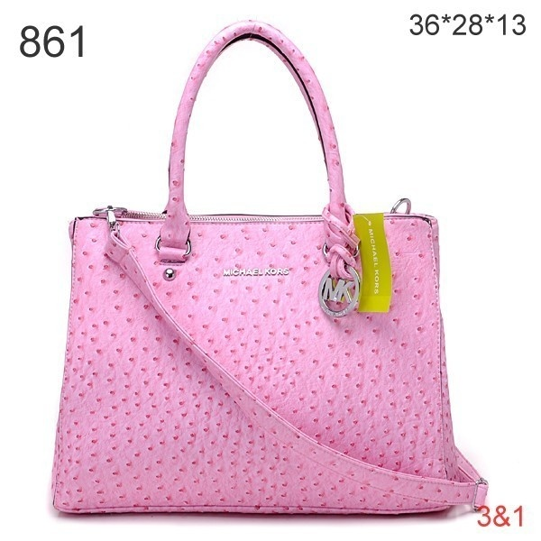 For My Holiday Michael Kors Hamilton Ostrich Skin Light Pink