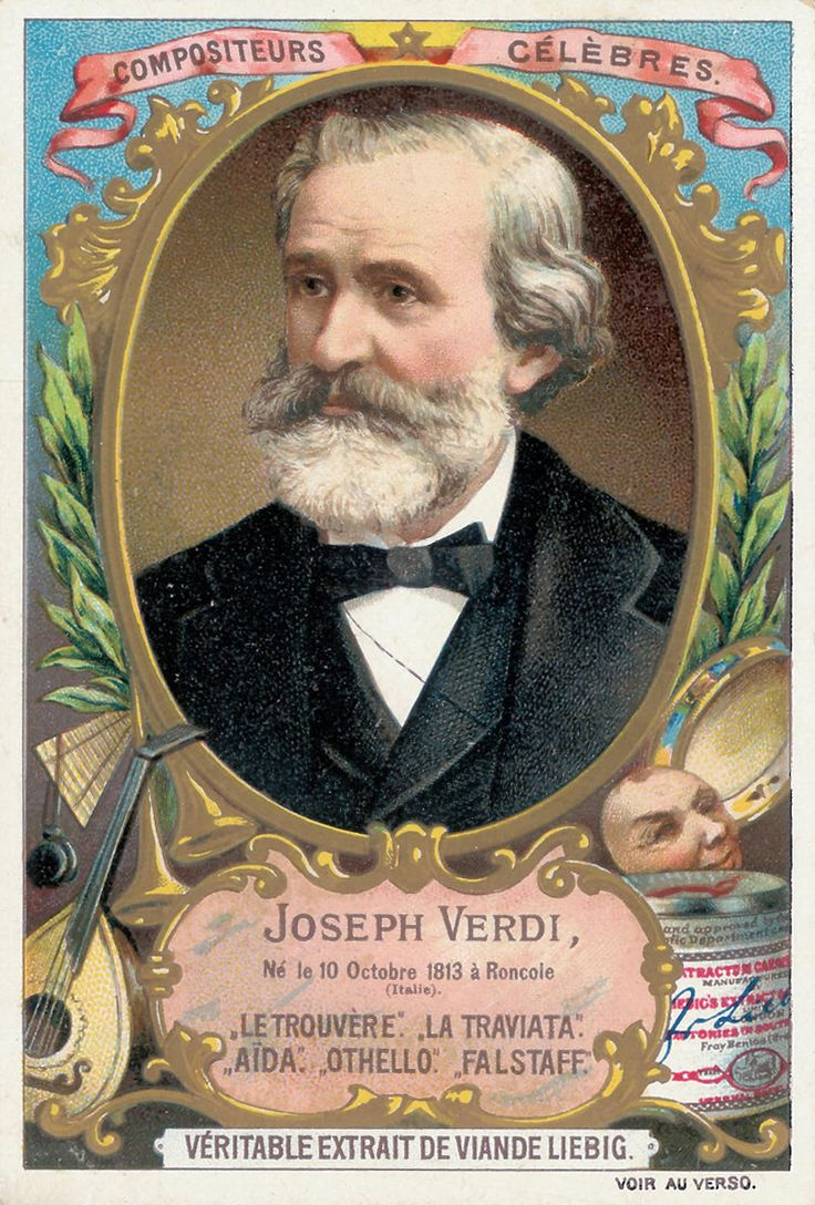 Giuseppe Verdi, 1893; figurina Liebig