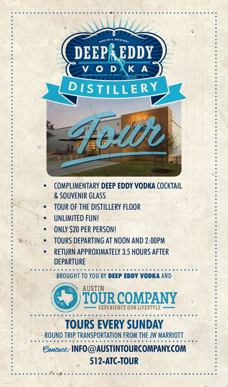 Deep Eddy Vodka Distillery Bus Tours in Dripping Springs at Deep