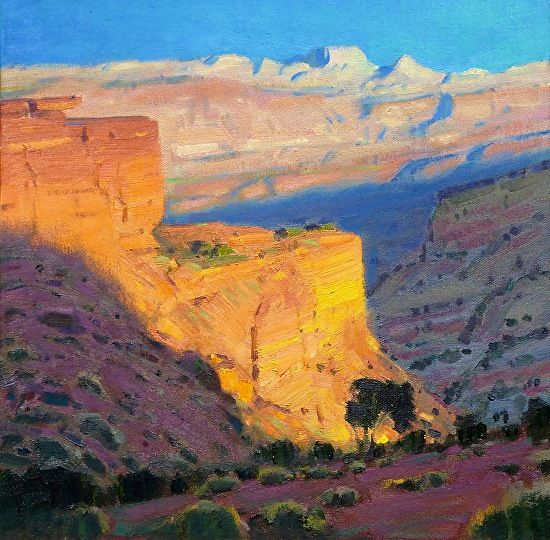 Robert Goldman - Capitol Reef Sunset- Oil on Canvas - Painting entry - April 2016   BoldBrush Painting Competition