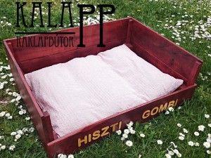 wooden pallet dog bed / raklap kutyaágy