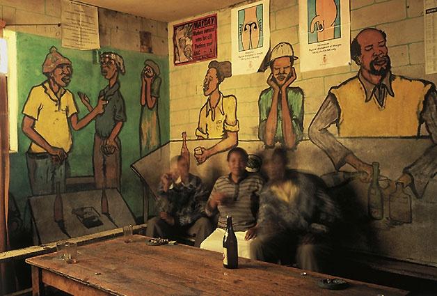 Chris Ledochowski, Hostel Shebeen. Freedom Square, Nyanga, 1992.