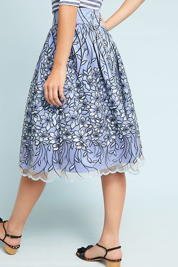 641cd38117 Slide View: 4: Floral Embroidered Tulle Skirt | FASHION WORLD | Skirts,  Fashion y Tulle