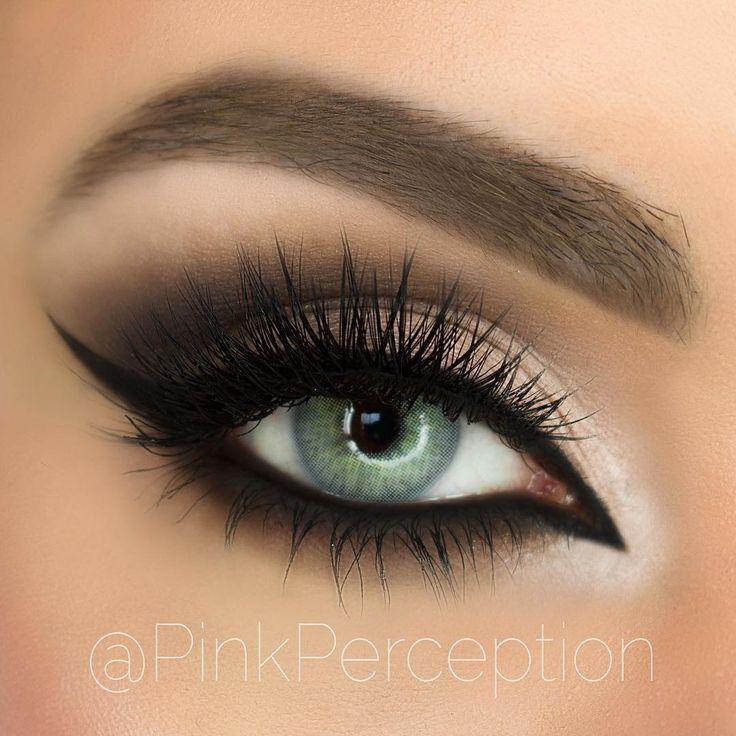 Solotica Hidrocor (no limbal rings) in Quartzo / Quartz #makeup #eye #color #contacts Light Blueish Green / Greenish Blue colored contact lenses, Brazilian colored contacts Solotica