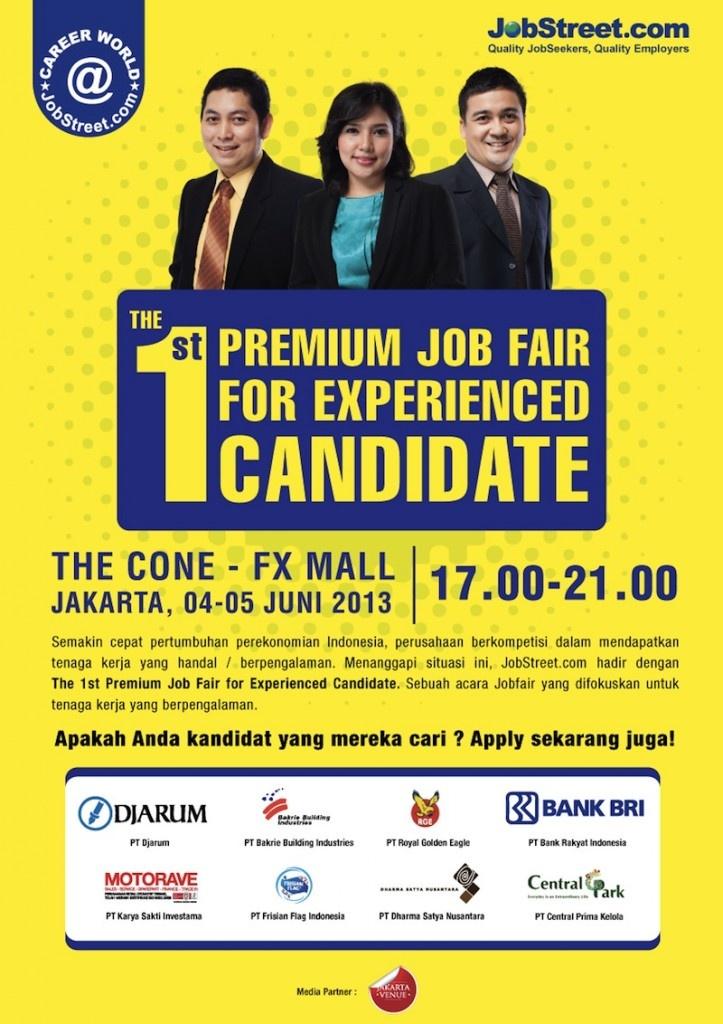 The 1st Premium Jobfair for Experience Level