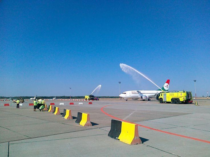 Sólyom Hungarian Airways first Boeing 737 arrived