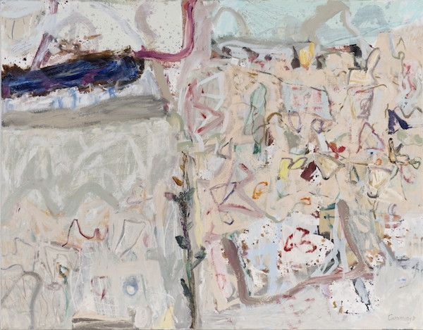 Artist: Elisabeth Cummings. Stones and Wild Flowers oil on canvas