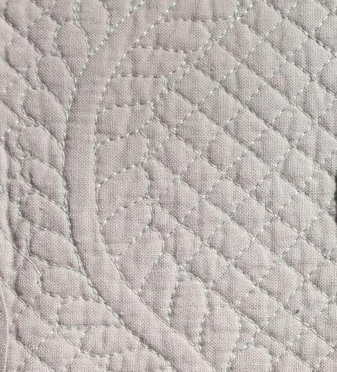 Quilted Cotton Placemat - Grey, Mouse, Dark Brown or Linen