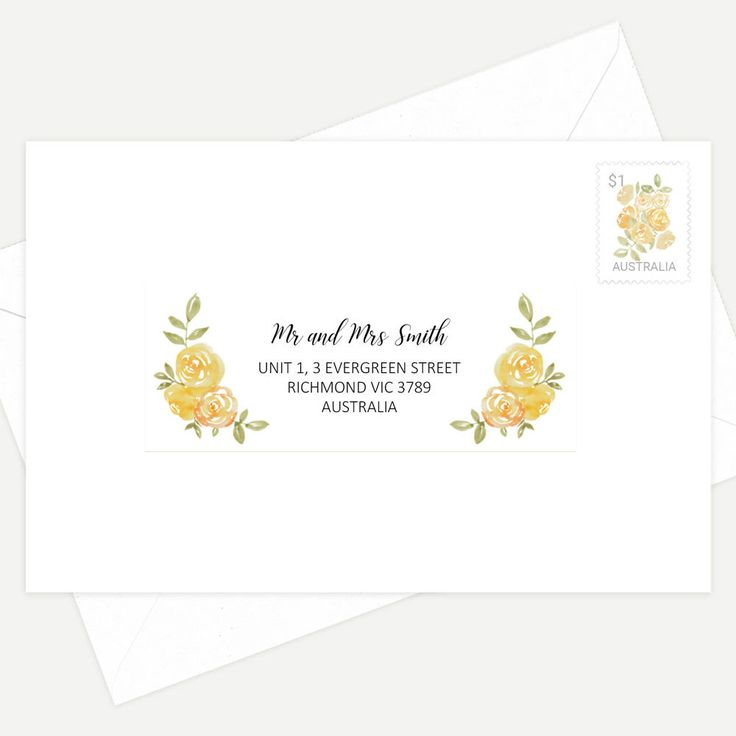 Printed Guest Addressing Labels - Multiple Font Styles To Choose From! - Font Matching Available