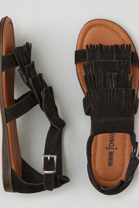 Authentic designs. Free-spirited heritage. Shaping the moccasin's place in history since 1946.  Shop the Minnetonka Maui Sandal  from American Eagle Outfitters. Check out the entire American Eagle Outfitters website to find the best items to pair with the Minnetonka Maui Sandal .