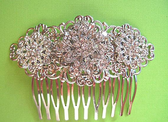 Wedding accessories  Bridal Hair Hair Comb by MissJoansBridal, $37.50