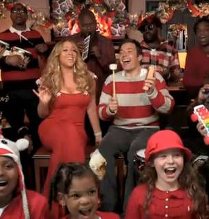 Mariah carey sings quot all i want for christmas is you quot with jimmy fallon