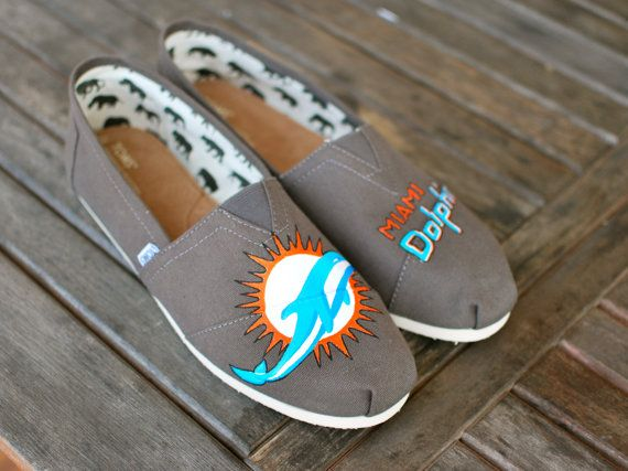 Miami Dolphins TOMS shoes by BStreetShoes on Etsy, $149.00 @Courtney Neal Bryant we need these shoes!