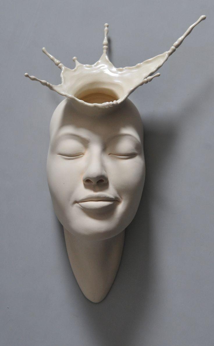 Open Mind: New Warped Face Sculptures by Johnson Tsang