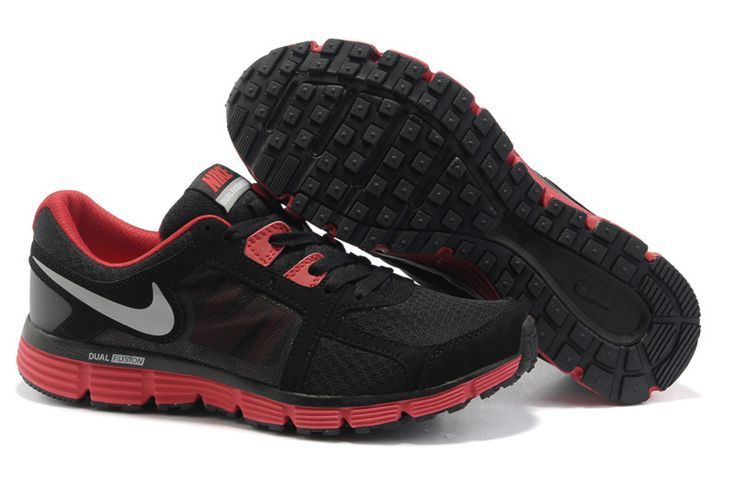 Fake Mens Nike Dual Fusion ST 2 Black/Sport Red/Dark Grey/Metallic Dark Grey Shoes $46.98