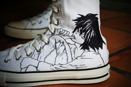death note, L sneakers <3