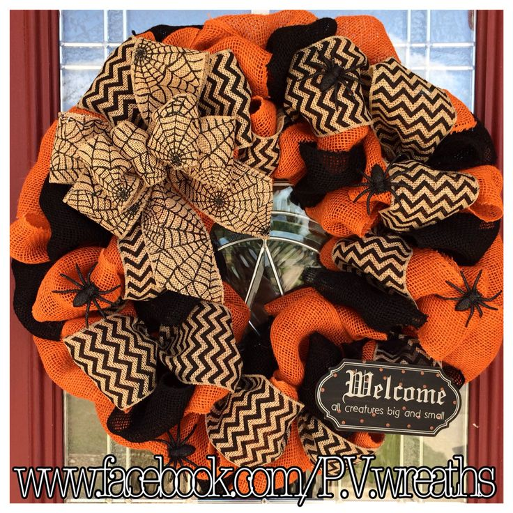 Halloween wreath  Burlap Halloween wreath  by PVwreathsByMelissa, $60.00