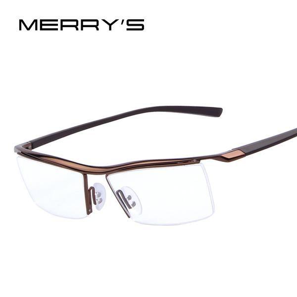 095762497fc FuzWeb Hot Sale Men Optical Frames Eyeglasses Frames Rack Business Glasses  Eyeglasses Frame Myopia Titanium