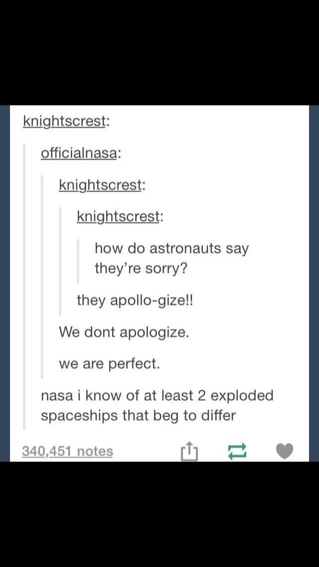 I laughed but then i cried because i remembered my mother actually saw the event live when the first teacher was going to space. So yea. Not perfect, more like traumatic. But at least they got it right after that o_o