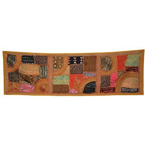 Handcrafted Wall Décor Sequins, Beads, Thread Work Elephant Figure Wall Hanging