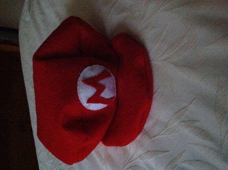 Mario Bros hat made of felt