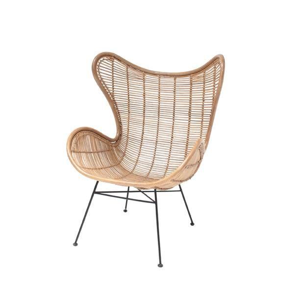 Le fauteuil Egg en rotin naturel de HK Living mélange à la perfection les…